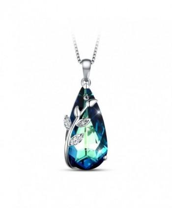 T400 Jewelers Eternity Necklace Swarovski - Blue - CB184SKSESH
