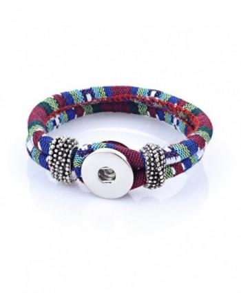 Vocheng Snap Charms Bracelet 12 Colors 18mm Button Interchangeable Jewelry Nn-300 - C1129WNJ567
