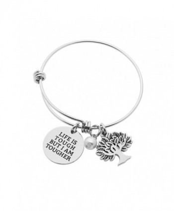 Best Friend Family Bangle Bracelet Tree Of Life Pearl Life Is Tough But I am Tougher - CT189SIN3AM