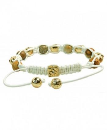 Crystal Beaded Shamballa Bracelet Macrame in Women's Strand Bracelets
