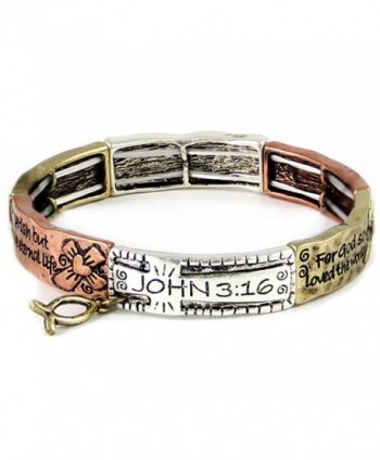 4030083a John 3:16 For God So Loved Stretch Bracelet Christian Scripture Religious - CI11HSLEHNH