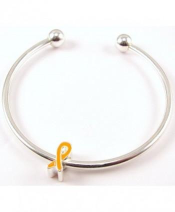 Orange Ribbon Charm on Cuff Bracelet Buy 1 Give 1 - CL1108UXHYF