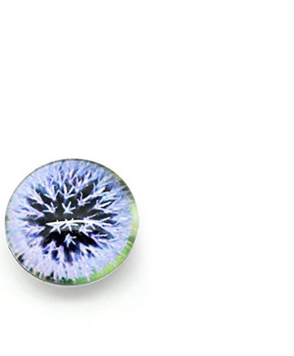 Dandelion Design Glass Chunk Charm Button Fits Chunk Bracelet - CM11HERFFC7