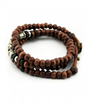 Konalla Wooden Bracelet Multistrand Wristband