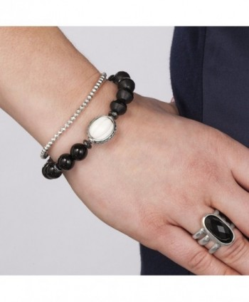 Silpada Blackboard Sterling Stretch Bracelet in Women's Stretch Bracelets