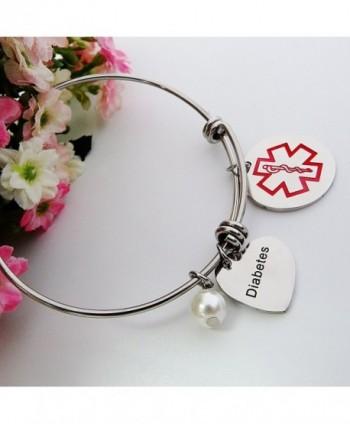 ALoveSoul Medical Alert Bracelet Expandable in Women's ID Bracelets