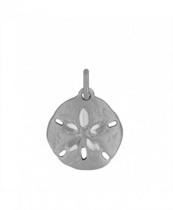 Sterling Silver Sand Dollar Charm Pendant - C0118GMHEXH