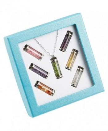 rockcloud Tumbled Wishing Bottles Necklace in Women's Pendants