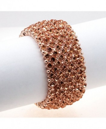 Rhinestone Stretch Bracelets Evening Jewelry