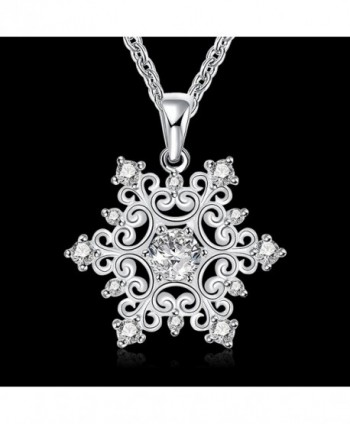 Happy Gogou Snowflake Necklaces Zirconia