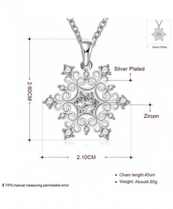 Happy Gogou Snowflake Necklaces Zirconia in Women's Pendants