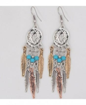 Idealway Bohemian Vintage Tassel Earrings