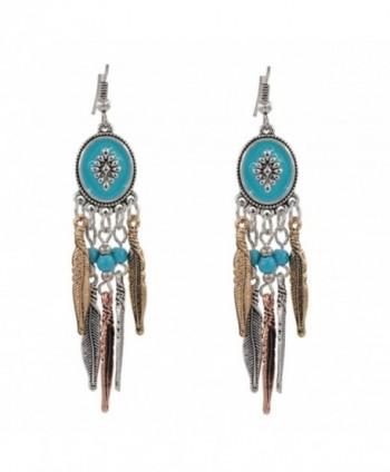 Idealway Bohemian Vintage Tassel Earrings in Women's Drop & Dangle Earrings