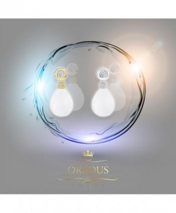 Plated Simulated Zirconia Earrings 11 5 12mm in Women's Drop & Dangle Earrings