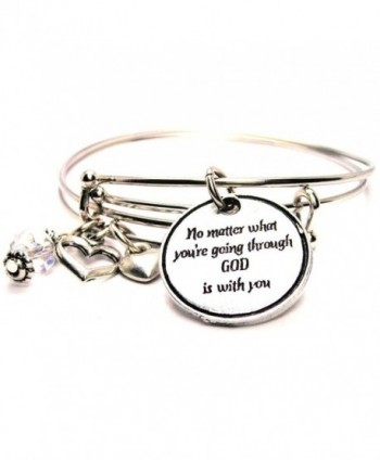 Plus Size God Is with You Adjustable Wire Bangle Set - CS12COXW2RL