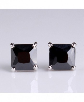 GULICX Diamante Square Pierced Earrings