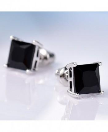 GULICX Diamante Square Pierced Earrings in Women's Stud Earrings