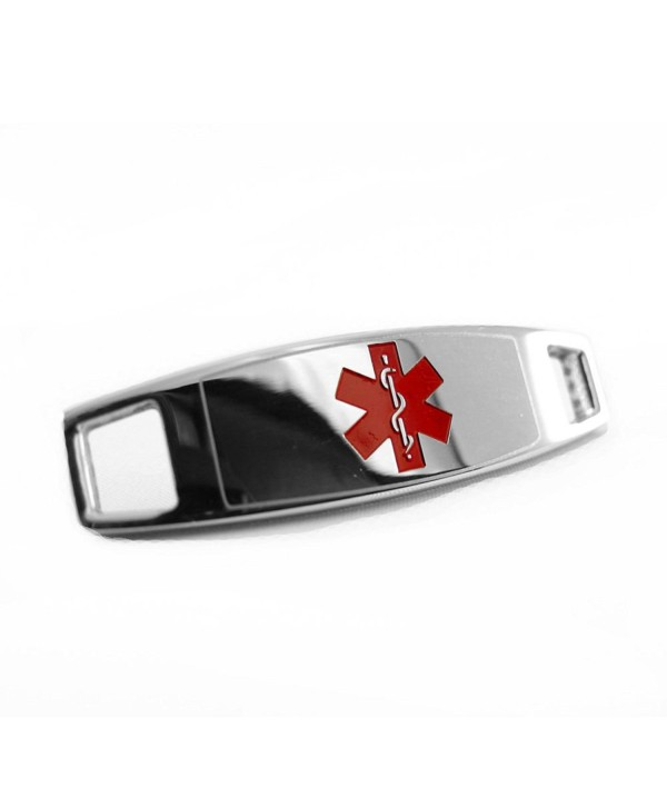 MyIDDr - Steel- Medical ID Tag Plate- Can be Attached to ID Bracelet - Free ID Card - CK116JA3Q7F
