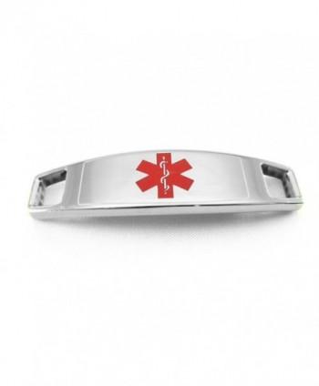 MyIDDr Steel Medical Attached Bracelet in Women's ID Bracelets