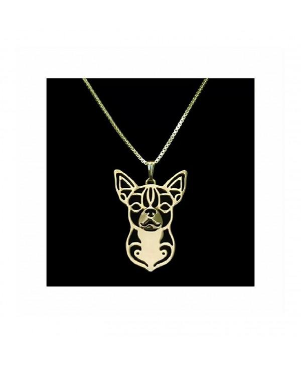 Chihuahua Necklace Rose Gold-Tone - CU12N27FWW9