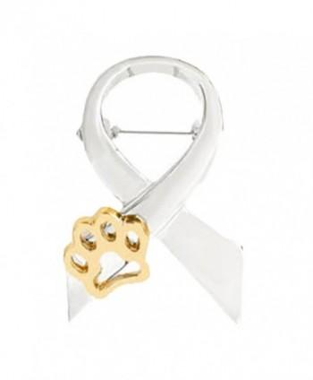 Fengzhicai Women Fashion Dog Paw Brooch Pin Breastpin Evening Party Jewelry - Silver - CC188U7MD0L