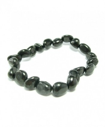 Shungite Bracelet From Russia - Freeform Tumbled Beads - CH127XYRMXF