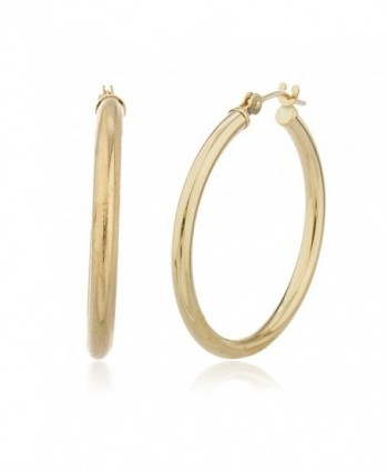 10k Yellow Gold 2mm Basic Hoop Earrings (10kYellow2mmHoop) - CX11ODBPG21