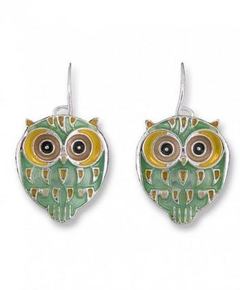 Baby Hoot Owl Enamel Dangle Earrings By Zarah - CX11UTUGGX3