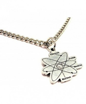 "ChubbyChicoCharms Atom Single Charm 18"" Necklace - C411E3ZKVR7"