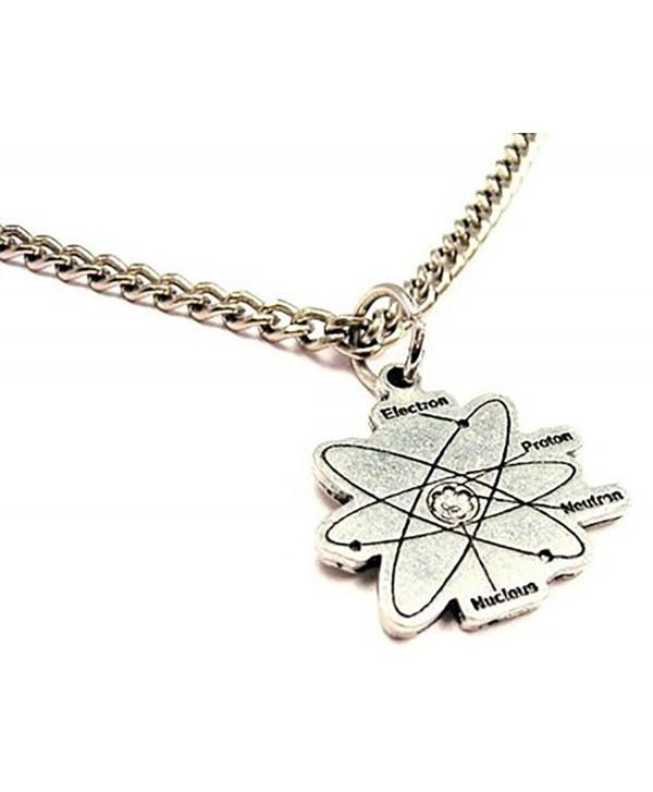 "ChubbyChicoCharms Atom Single Charm 18"" Necklace - C411E3ZKVR7"