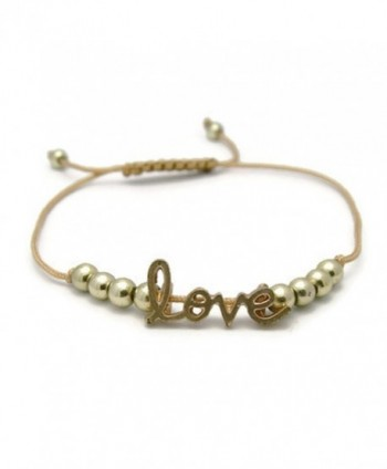 APECTO Style Simple Gold Tone Plated Beads Bracelet Adjustable - CZ12NUE60W0