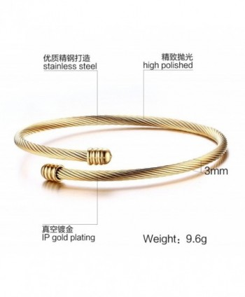 Stainless Triple Stackable Twisted Bracelet