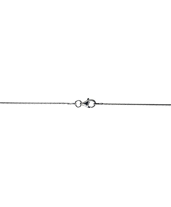 Sterling Silver Soft Wire Round Omega Neck 1mm Choker Nickel Free Italy- sizes 16 - 20 inch - CK111G6JITN