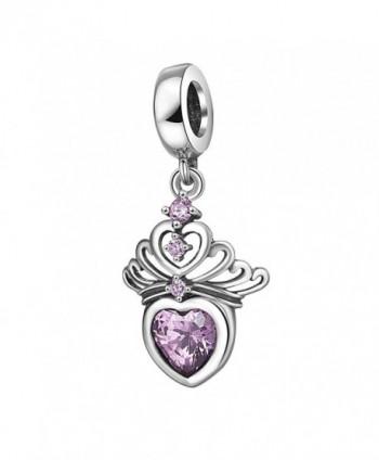 Sterling Princess Anniversary Charms Bracelet - pink - CF188IWQQQU