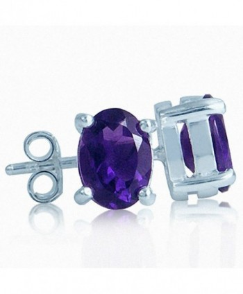 1.44ct. Natural African Amethyst 925 Sterling Silver Stud Earrings - C3110FJQO4J