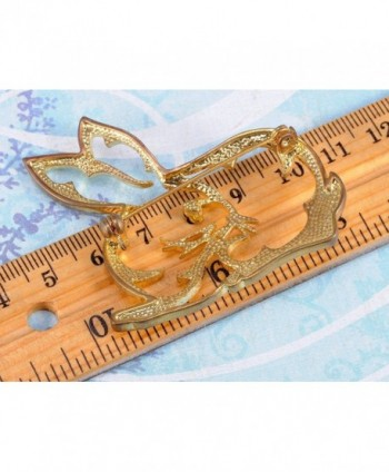 Alilang Golden Crystal Colored Rhinestones in Women's Brooches & Pins