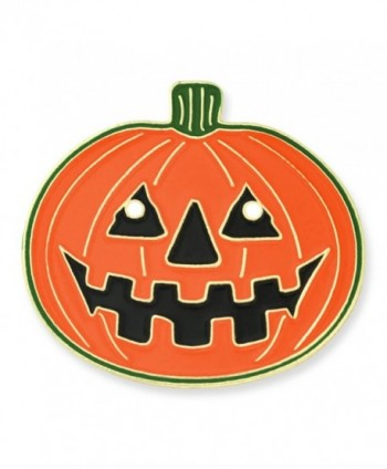 "PinMart's Halloween Pumpkin Jack-O'-Lantern Holiday Lapel Pin 1"" - CX119PEL2O7"