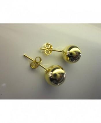 Gold Plated Brass Ball Earrings in Women's Ball Earrings