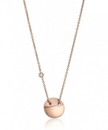 Fossil Womens Engravable Necklace - Rose Gold - CL12O769MQB