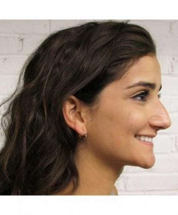 Yellow Gold Heart Shaped Earrings in Women's Hoop Earrings