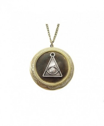 Hex Protection Locket Necklace - Hex Removal - Curse Protection-all Seeing Eye-evil Eye-wicca Jewelry - C91202I2H3T