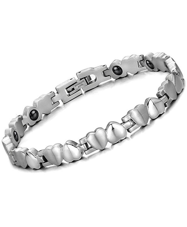 Brand New Lady's Titanium Stainless Steel Magnetic Bracelet Anti-fatigue Anti-radiation in a Gift Box - CO11034PDD9