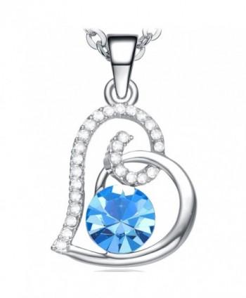 Necklace Girlfriend Birthday Anniversary Valentines - Blue - CA12N5L88WI