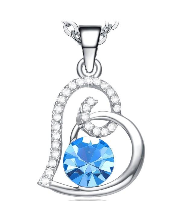 b835e983759 Necklace Girlfriend Birthday Anniversary Valentines - Blue - CA12N5L88WI