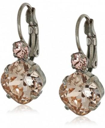 Sorrelli French Wire Drop Earrings - Satin Blush - CT12O6TCWUQ