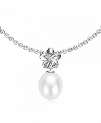 "Swhite Sterling Freshwater Cultured Pearl Pendant Necklace - ""		 	 White	 	"" - CB12MX5KXPY"
