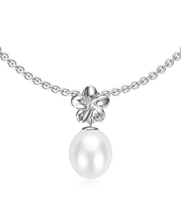 """Swhite Sterling Freshwater Cultured Pearl Pendant Necklace - """" White """" - CB12MX5KXPY"""