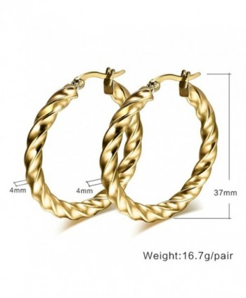f460d2b0c AnaZoz Jewelry Punk large hoop earring for women lady stainless steel gold  chunky - gold -; AnaZoz Jewelry earring stainless chunky ...