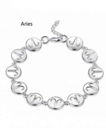 Zodiac II Sign Constellation Adjustable Bangle Bracelet - CA182K3ZIGZ