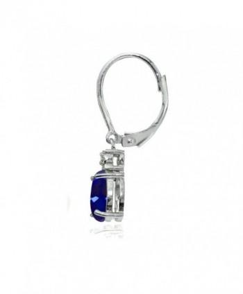 Sterling Sapphire Dangling Leverback Earrings